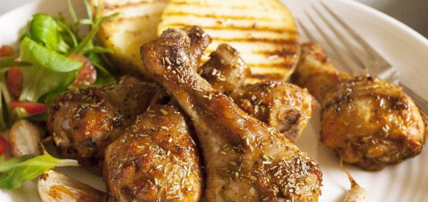 Perna de frango feita no Sous Vide