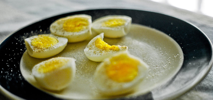 Ovo bem cozido feito no Sous Vide