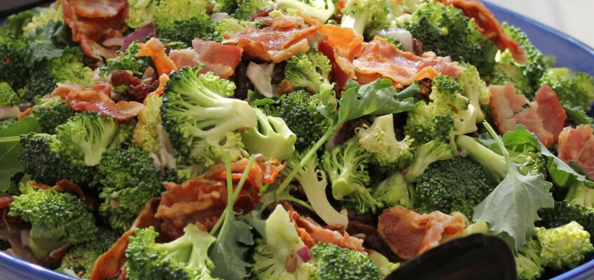 Brócolis feito no sous vide